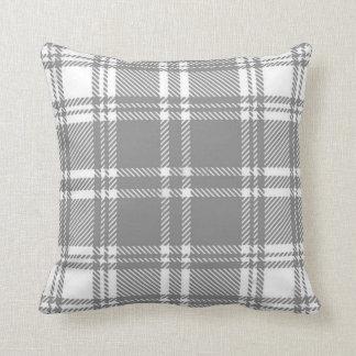 Almohada de tiro gris de la franela de la tela