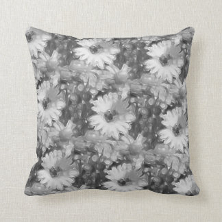 Almohada de tiro gris de la margarita cojín decorativo