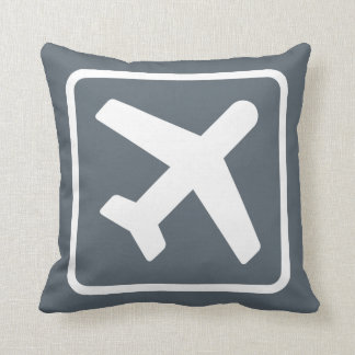 Almohada de tiro gris del icono de la salida del cojín decorativo