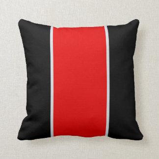 Almohada de tiro gris roja negra