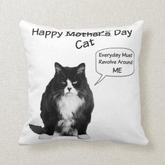 Almohada de tiro gruñona del día de Cat Mother