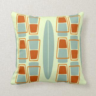Almohada de tiro inspirada retra de la tabla hawai