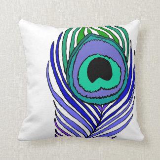 Almohada de tiro intrépida de la pluma del pavo cojín decorativo