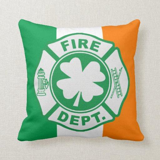Almohada de tiro irlandesa de MoJo de los bomberos