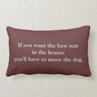 Almohada de tiro linda de la cita del perro