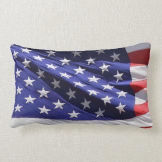 Almohada de tiro lumbar de la bandera americana