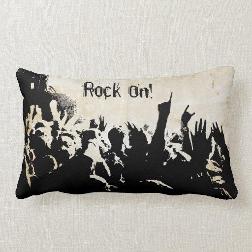 Almohada de tiro lumbar del concierto de rock