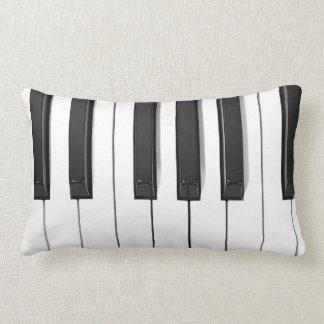 Almohada de tiro lumbar del teclado de piano