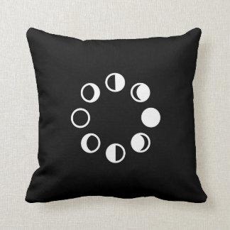 Almohada de tiro lunar del pictograma de las fases