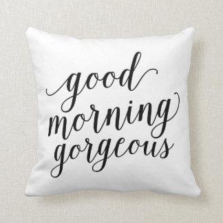 Almohada de tiro magnífica de la buena mañana el |