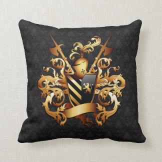 Almohada de tiro medieval del escudo de armas cojín decorativo