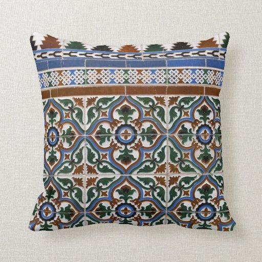 Almohada de tiro mediterránea del modelo de la tej