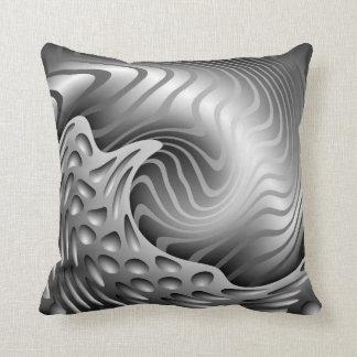 Almohada de tiro metálica abstracta del modelo
