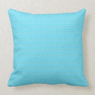 Almohada de tiro modelada turquesa del algodón