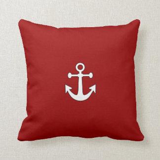 Almohada de tiro náutica del ancla reversible roja