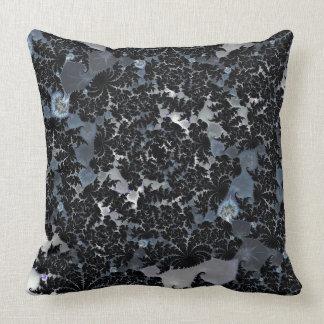Almohada de tiro negra de encaje