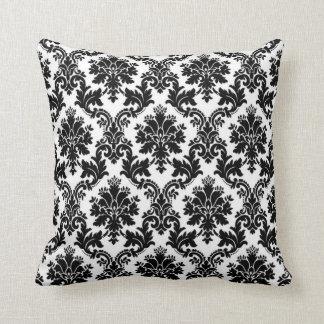 Almohada de tiro negra del sofá de Broquade del co