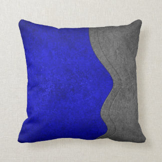 Almohada de tiro - negro azul del viraje