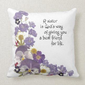 Almohada de tiro para una hermana cojín decorativo