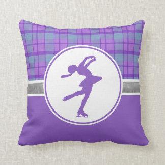 Almohada de tiro patinadora púrpura de la tela