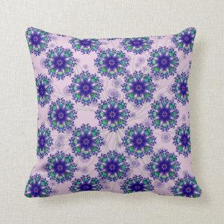 Almohada de tiro perenne violeta azul del algodón