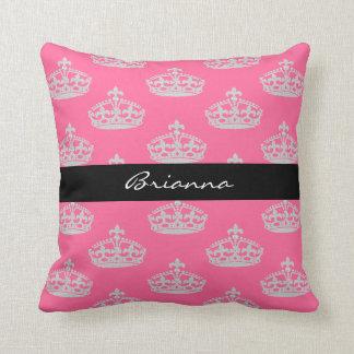 Almohada de tiro personalizada de princesa Crown