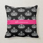 Almohada de tiro personalizada de princesa Crown d