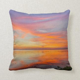 Almohada de tiro pintada del cielo