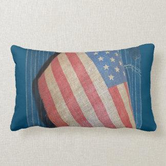 Almohada de tiro primitiva de la bandera americana