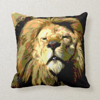 Almohada de tiro principal del león de los derech