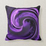 Almohada de tiro púrpura Amethyst de la onda de la