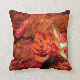 Almohada de tiro púrpura anaranjada rosada roja cojín decorativo