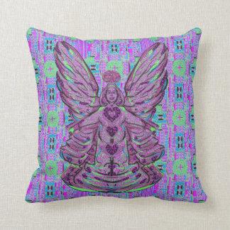 Almohada de tiro púrpura del arte del modelo del