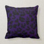 Almohada de tiro púrpura del estampado leopardo