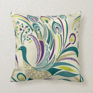 Almohada de tiro púrpura del remolino del pavo
