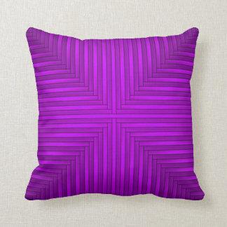 Almohada de tiro púrpura rosada