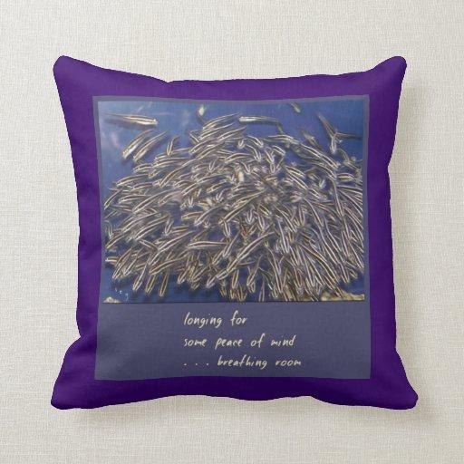 Almohada de tiro rayada del siluro del arte del cojín decorativo