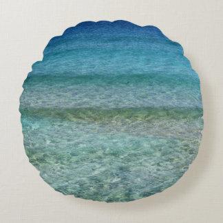 Almohada de tiro redonda azul de la aguamarina cojín redondo