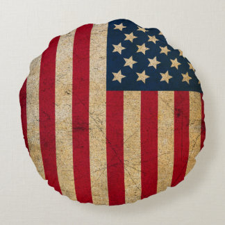 Almohada de tiro redonda de la bandera americana cojín redondo