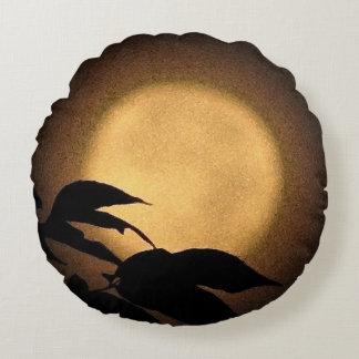 Almohada de tiro redonda de la luna del otoño
