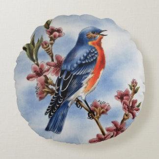 Almohada de tiro redonda del Bluebird del este Cojín Redondo