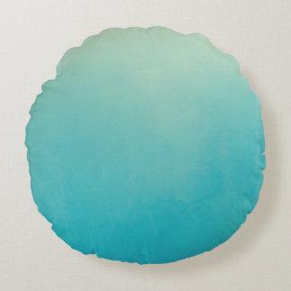 Almohada de tiro redonda del extracto azul de la cojín redondo
