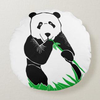 Almohada de tiro redonda del oso de panda cojín redondo