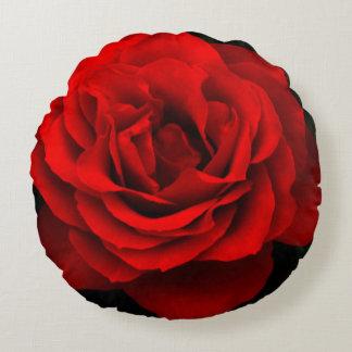 Almohada de tiro redonda del rosa rojo del fuego cojín redondo