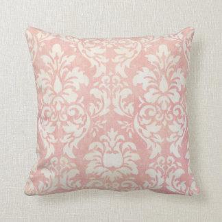 Almohada de tiro reversible del damasco rosado lam
