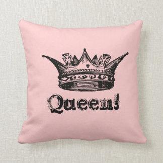 Almohada de tiro reversible del rey y de la reina
