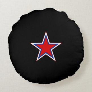 Almohada de tiro roja de la estrella de Soviet* Cojín Redondo