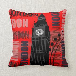 Almohada de tiro roja de Londres Big Ben