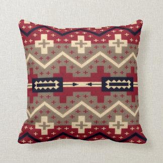 Almohada de tiro roja del modelo de Navajo