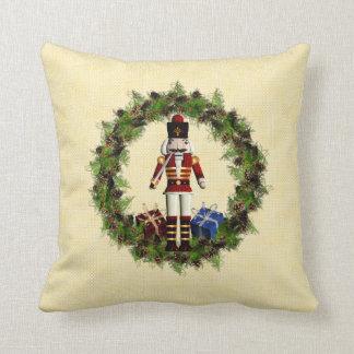 Almohada de tiro roja del navidad de la guirnalda